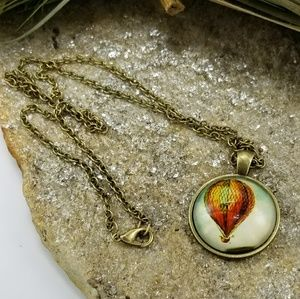 Jewelry - NWOT Hot Air Balloon Necklace Pendant Balloons